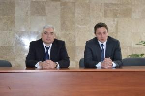Представление генерального директора: Геннадий Коптев (слева) и Алексей Абрамов